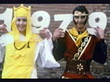 Andrew Iann and friend dressed as Monkey and Tripitaka on 'I Love The Seventies: 1979'
