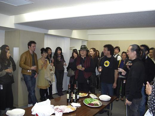 Godiego in Tokyo 2008 - Godiego, all together, at the aftershow party