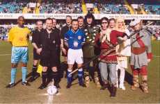 Monkey, Pigsy, Sandy and Tripitaka alongside Millwall player Dennis Wise, amongst others